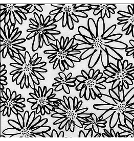 Robert Kaufman Daisy in Black/White