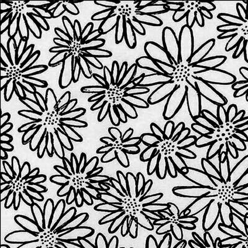 Robert Kaufman Daisy in Black/White
