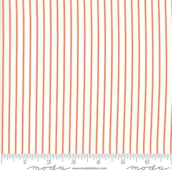 Moda Picket Stripe in Persimmon