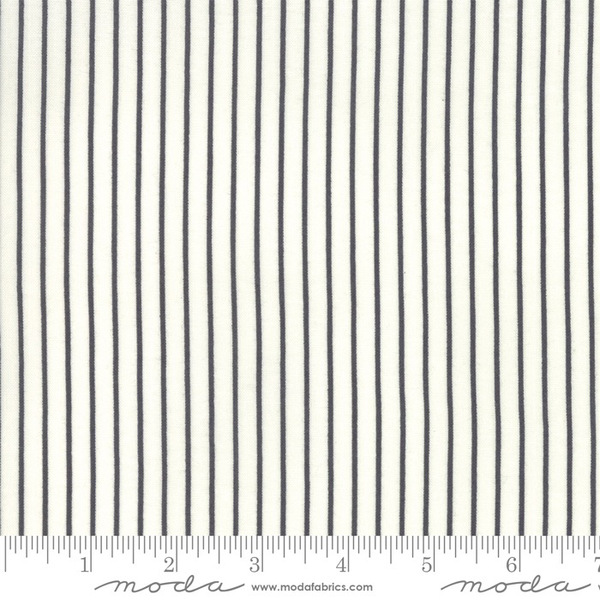 Moda Picket Stripe in Charcoal