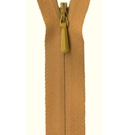 "YKK Unique Invisible Zipper 22"" Gold"