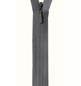 "YKK Unique Invisible Zipper 22"" Grey"