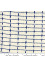 "Moda 16"" Blue Plate Toweling in Cream w/ Blue"