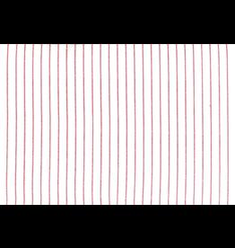 """Moda 16"""" Narrow Dobby Stripe Toweling in White/Red"""