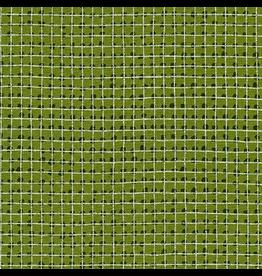 Robert Kaufman Grid in Ivy w/ Silver Metallic