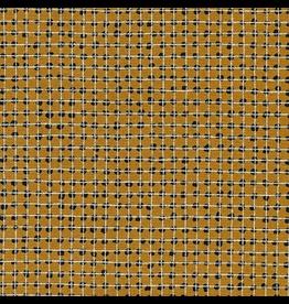 Robert Kaufman Grid in Leather w/ Silver Metallic