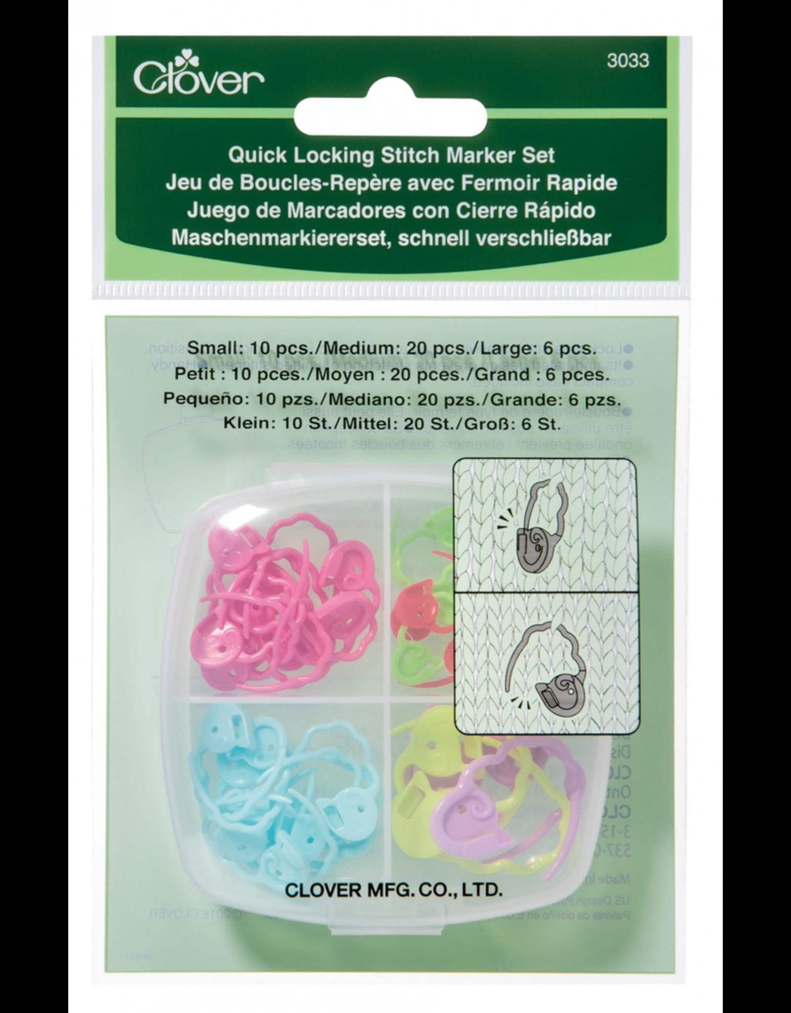 Clover Quick Locking Stitch Marker Set