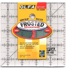 "4.5"" Square Frosted Ruler"