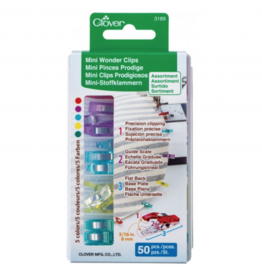 Clover Mini Wonder Clips in Rainbow 50 pc