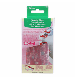 Clover Wonder Clips in Red 50 pc