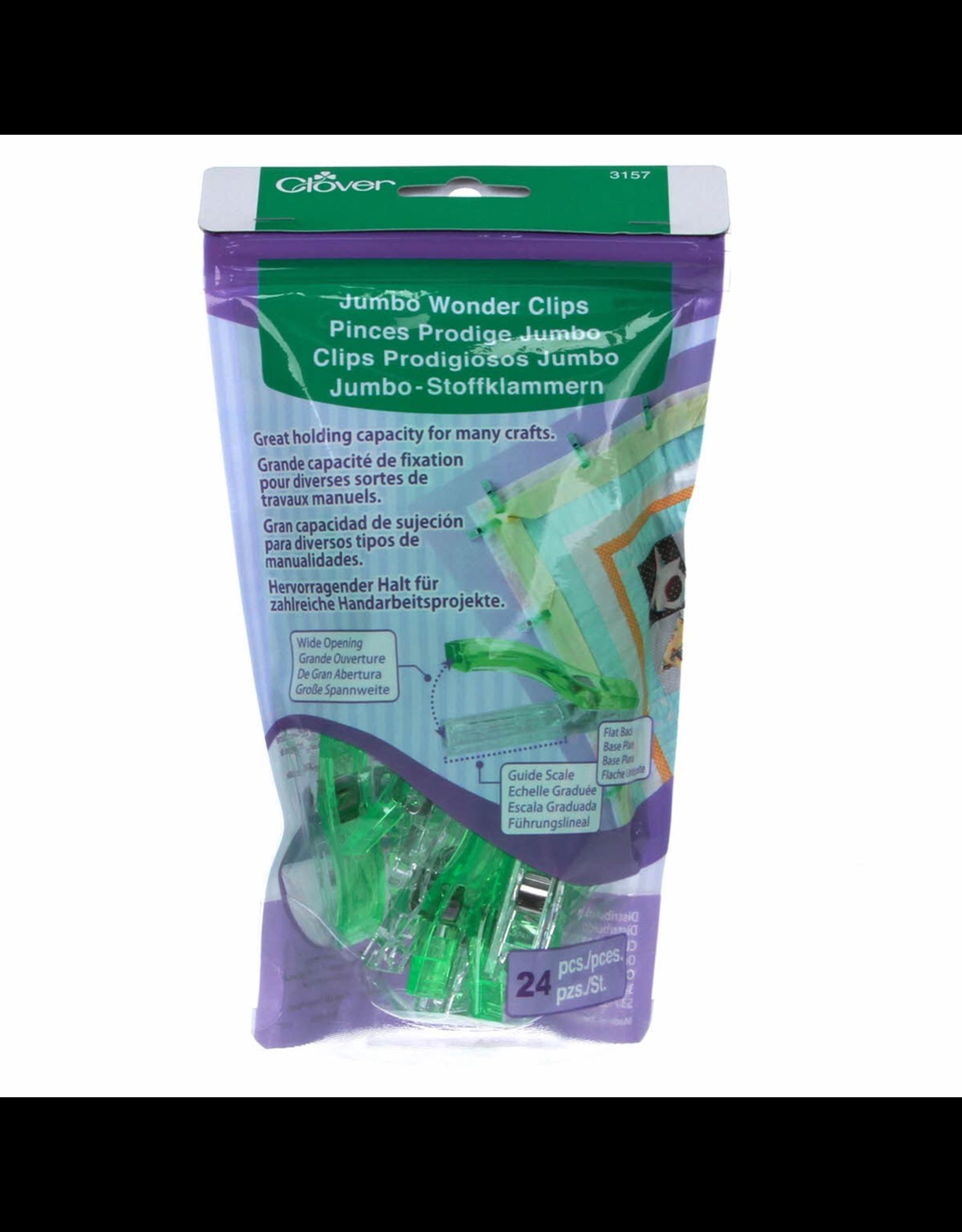 Clover Jumbo Wonder Clips in Green 24 pc