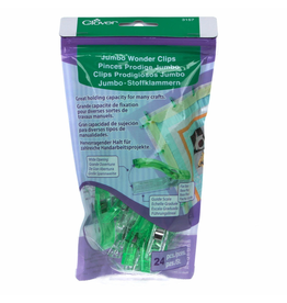 Clover Jumbo Wonder Clips in Green 24 pc