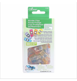 Clover Wonder Clips in Rainbow 50 pc