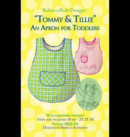 Rebecca Ruth Designs Tommy & Tillie Toddler Apron Pattern