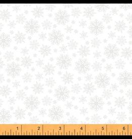 Windham Snowflakes in White on White