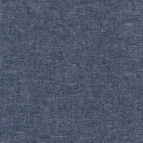 Robert Kaufman Essex Yarn Dyed Metallic Linen in Midnight