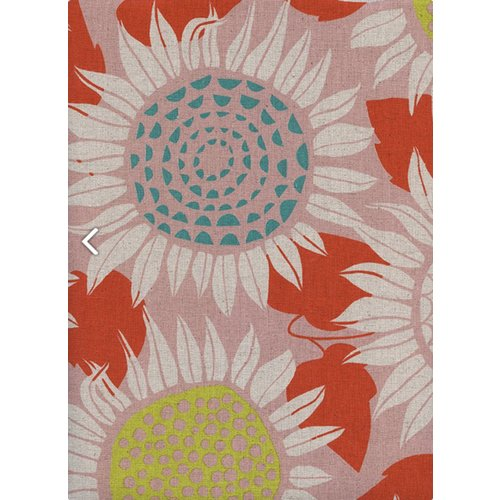 Cotton + Steel Sunflowers Canvas in Pink