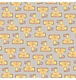Blank Quilting Monkeys Flannel in Light Brown