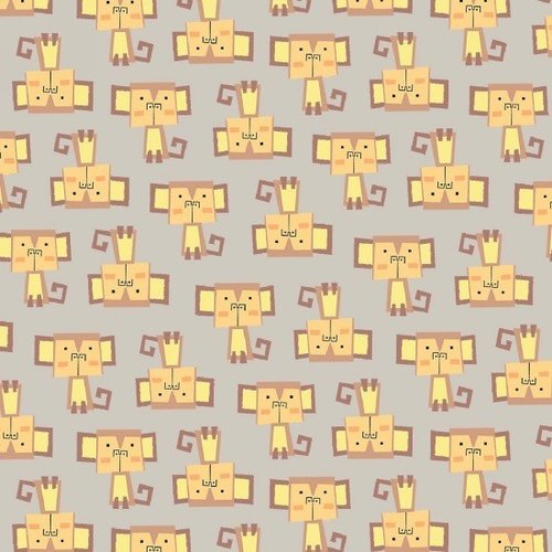 Blank Quilting Monkeys Flannel in Light Brown