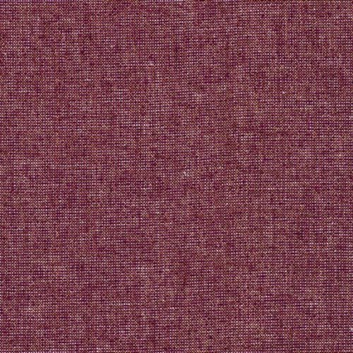 Robert Kaufman Essex Yarn Dyed Metallic Linen in Burgandy