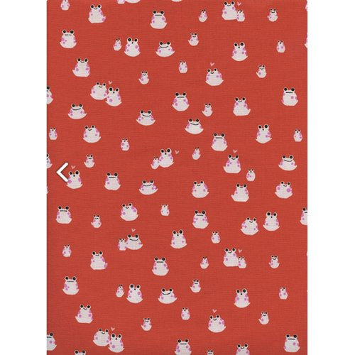 Cotton + Steel Frogs in Red
