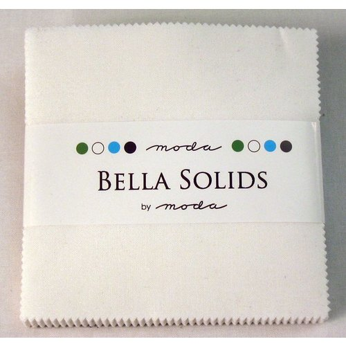Moda Bella Solids Charm Pack White