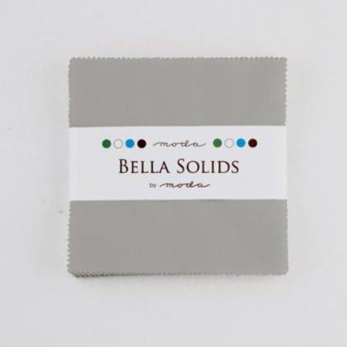 Moda Bella Solids Silver Charm Pack