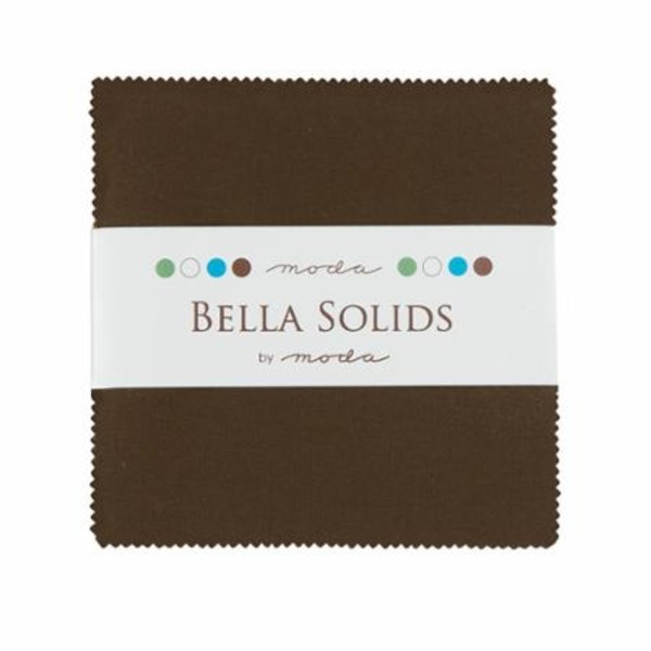Moda Bella Solids Charm Pack Brown