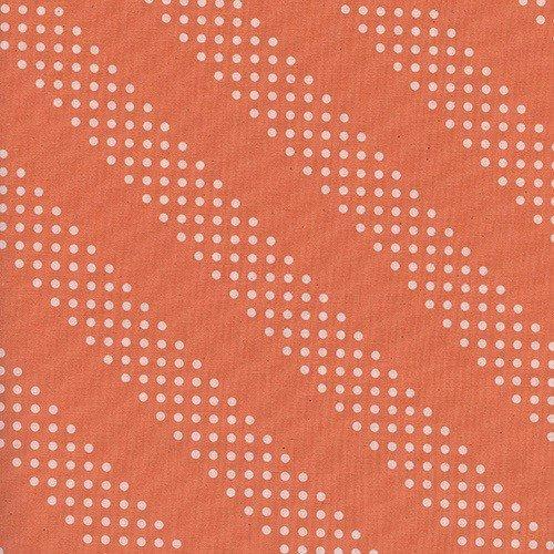 Cotton + Steel Dottie in Tangerine