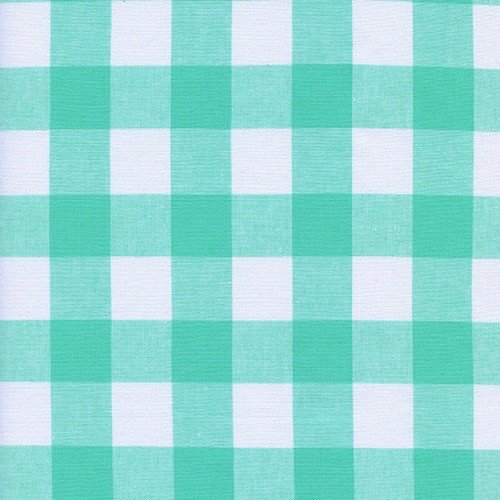 "Cotton + Steel 1"" Gingham in Mint Chip"