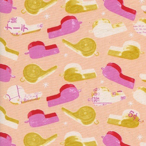 Cotton + Steel Whistles in Pink