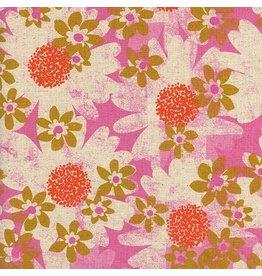 Cotton + Steel SALE Daisy Fields in Pink Canvas