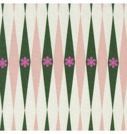 Cotton + Steel Backgammonish in Green/Natural