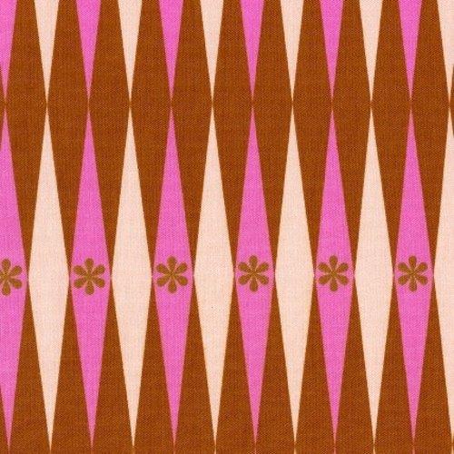 Cotton + Steel Backgammonish in Pink Rust