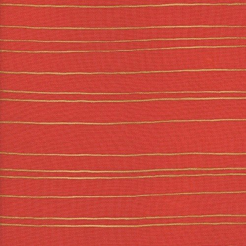Cotton + Steel Gold Stripe in Orange Metallic<br />Gold Stripe in Orchid Metallic