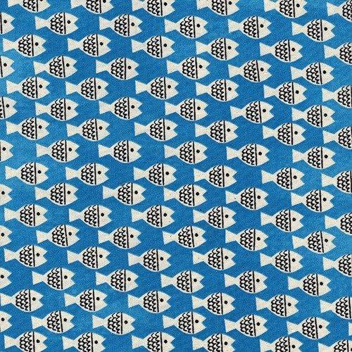 Cotton + Steel Fish Friends in Blue