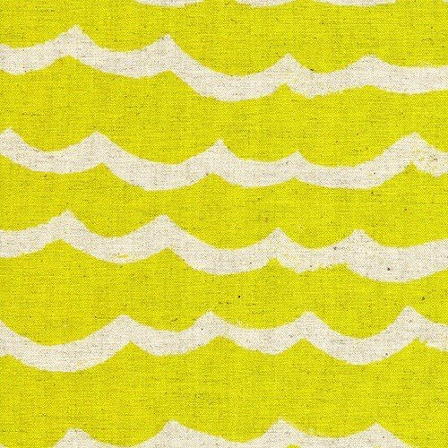 Cotton + Steel Waves Canvas in Citron