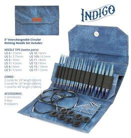 "Lykke Lykke 5"" Interchangeable Circular Knitting Needle Set in Indigo"