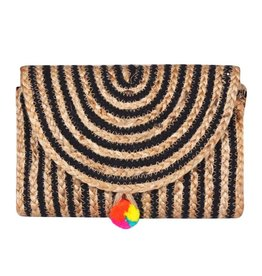Raven Stripe Eco-Friendly Clutch