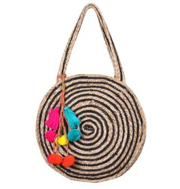 Raven Stripe Eco-Friendly Jute Tote