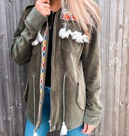 Bronze Green Velvet Jacket