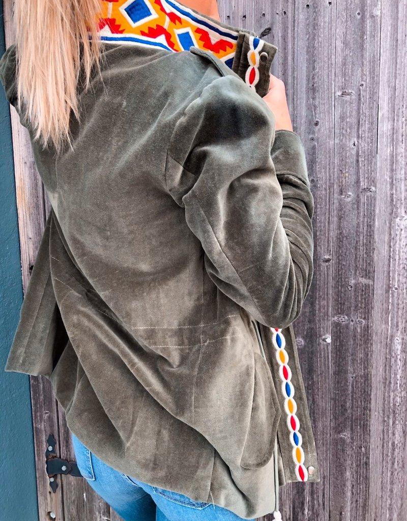 Brushed Green Velvet Jacket