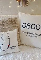 "LBI Zip Code 20"" Pillow"