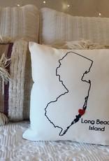 Mini LBI Pillow w/ Heart Button