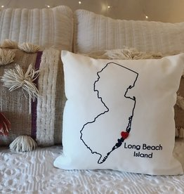 Wildwood Landing Mini LBI Pillow w/ Heart Button