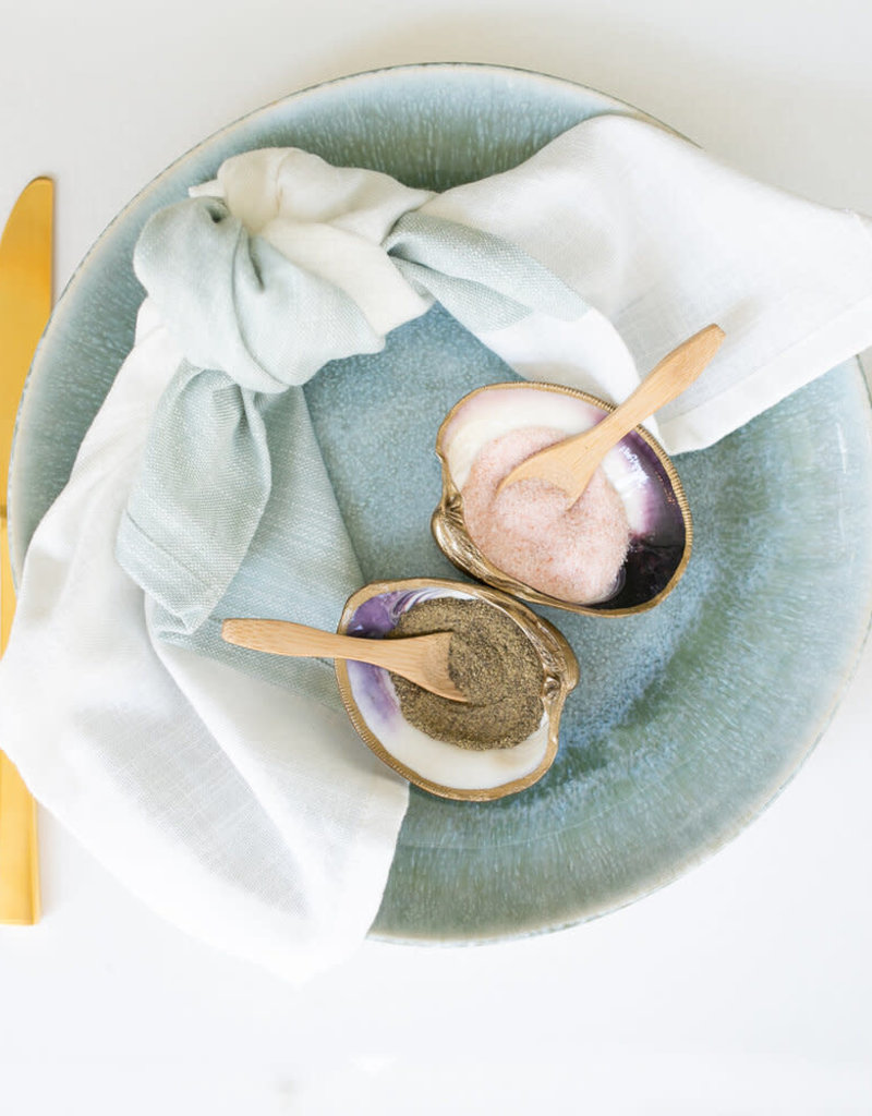 Grit & Grace Gilded Shell Salt & Pepper | Clam Dish