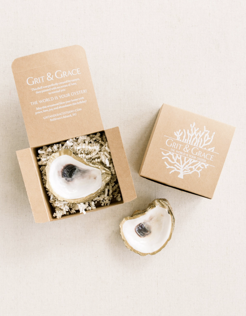 Grit & Grace Oyster Jewelry Dish | Gold