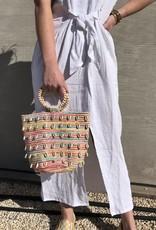 Cowrie Shell Mini Bucket Bag
