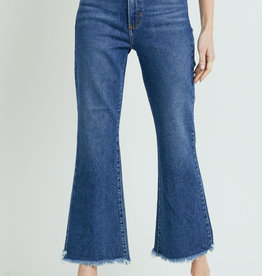 High Rise Frayed Crop Flare