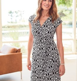 Clara Bimini Ikat Faux Wrap Dress